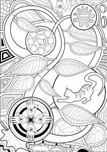 Leaves Colouring Page