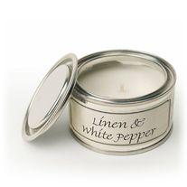 Linen & White Pepper & Sea Salt Paint Pot Candles