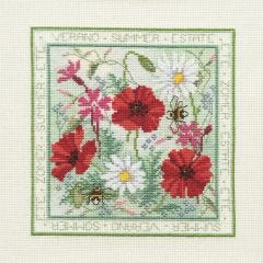 Summer Flowers Counted Cross Stitch Kit