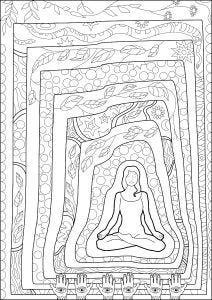Meditation Colouring Page