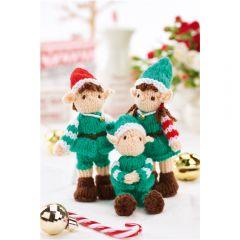 Mini Christmas Elves Knitting Pattern