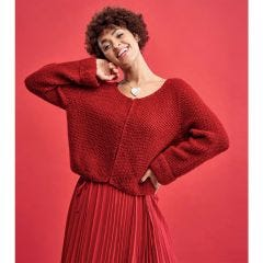 Moss Stitch Jacket Knitting Pattern
