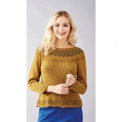 No-Sew Fair Isle Sweater Knitting Pattern