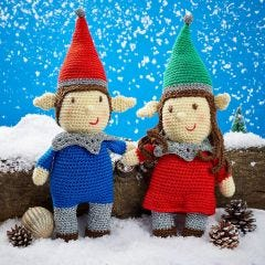 Nutmeg & Noel The Elves Downloadable Crochet Pattern