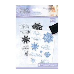 Glittering Snowflakes - A6 Clear Acrylic Stamp - Chase The Snowflakes