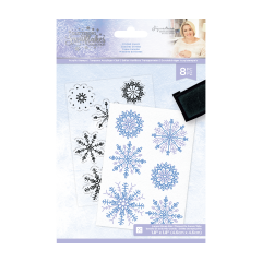 Glittering Snowflakes - A6 Clear Acrylic Stamp - Frosted Layers
