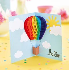 FREE Honeycomb pop-up card