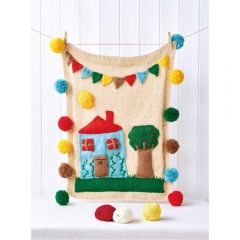 Pom-Pom House Play Mat Knitting Pattern