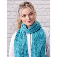 Pretty Drop Stitch Scarf Knitting Pattern