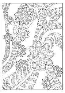 Ribbons and Patterns Colouring Page