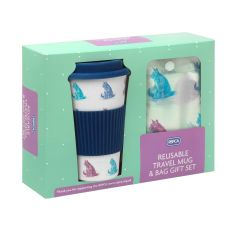 RSPCA Cats Travel Mug & Shopper Bag Gift Set