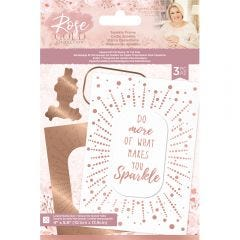 Rose Gold - Foil Stamp 'N' Cut Die - Sparkle Frame