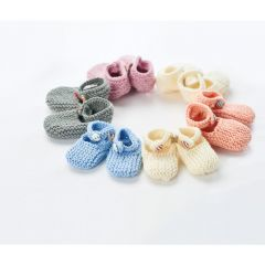 Simple Knitted Baby Shoes Knitting Pattern