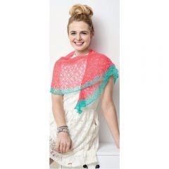 Simple Lace Shawlette Knitting Pattern