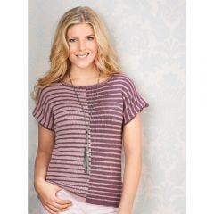 Stripy Colour Block T-shirt Knitting Pattern