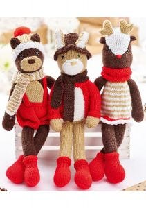 The Woodland Trio Physical Knitting Pattern