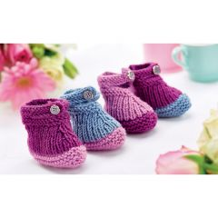 Twinkle Toes Baby Booties Knitting Pattern