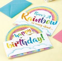 Rainbow Cards with Colouring Pens