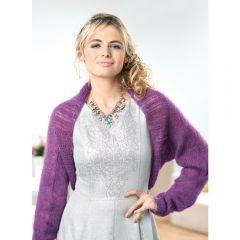 Warm Fluffy Lace-edged Shrug Knitting Pattern