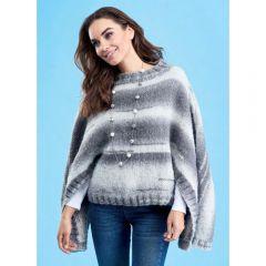 Winter Poncho Knitting Pattern