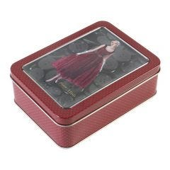 Button Tin- Red