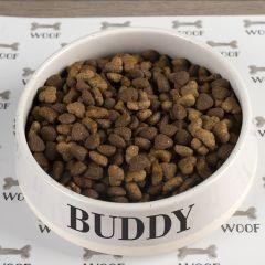 Large Grey Ceramic Pet Bowl