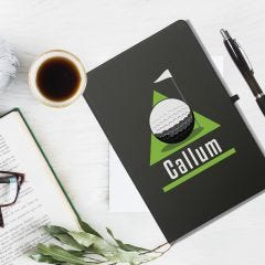 Golf Green Black Notebook & Pen