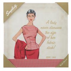 Vintage Canvas- Fabric Stash