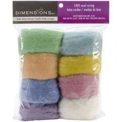 100% Wool Roving Pack- Pastel