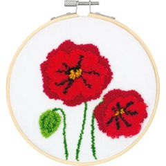 Punch Needle Kit- Poppies