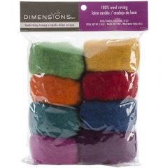 100% Wool Roving Pack- Rainbow