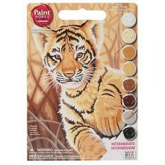Paint By Number Kit- Tiger Cub
