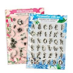 American Crafts Personalised  Stamp Bundle