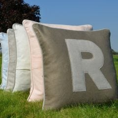 Appliqued Linen Cushion