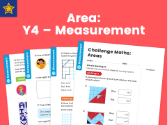 Area Year Four Measurement Maths Challenge