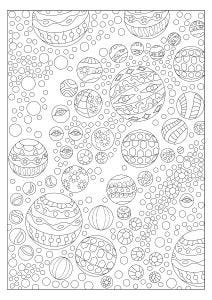 Bubbles Colouring Page