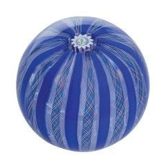 Caithness Thistle Crown Paperweight - Blue