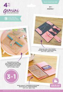 Gemini - Multi Media Die - Multi-Function Die Set - Set 1 Travel Wallet/Jewellery Case/Fold-Over Clutch Bag