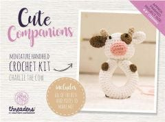 Cute Companions -  Charlie the Cow Miniature Handheld Crochet Kit