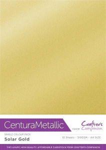Centura Metallic Single Colour 10 Sheet Pack - Solar Gold