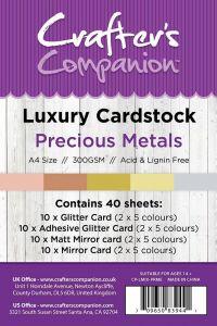 Centura Metallic 36 Sheet Card Pack - Precious Metals