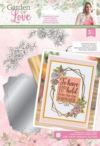 Garden of Love- Foil Stamp Die and Stamp Set - Embellished Frame