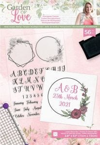 Garden of Love - Acrylic Stamp - Monogram Frames