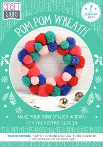 Pom Pom Wreath Physical Pattern