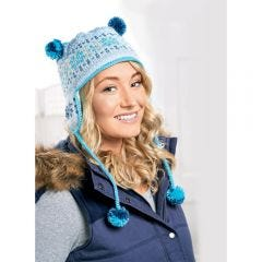 Cosy Snowflake Ski Hat Knitting Pattern