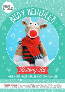 Rudy Reindeer Physical Knitting Pattern