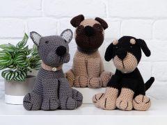 Amigurumi Dera-Dogs Crochet Kit and Pattern
