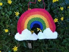 Rainbow Window Decoration Knitting Kit and Pattern in Deramores Yarn