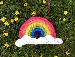 Rainbow Window Decoration Crochet Kit and Pattern in Deramores Yarn