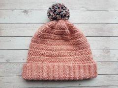 Tweed Stripe Beanie Crochet Kit and Pattern